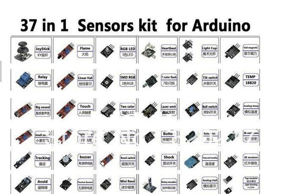 37 in 1 box sensor kit for arduino  works with official and compatible