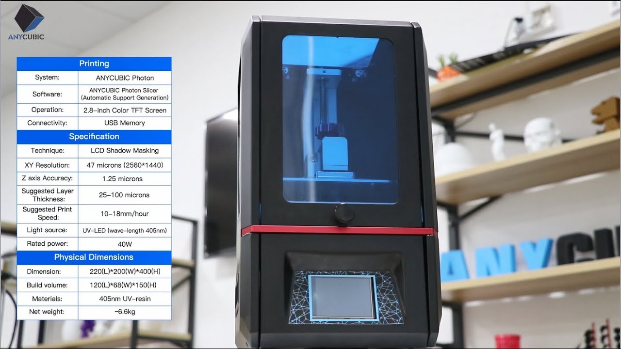Anycubic PHOTON DLP RESIN 3D Printer