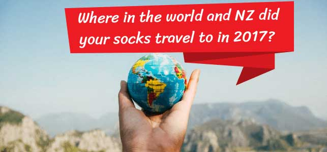 Where in the world did your socks travel to in 2017