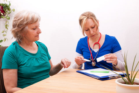 Nurse discussing treatment options with a patient