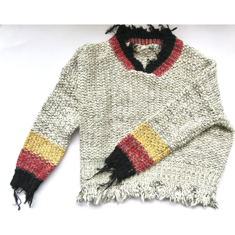 Vintage Havana Knit Frey Edge Sweater