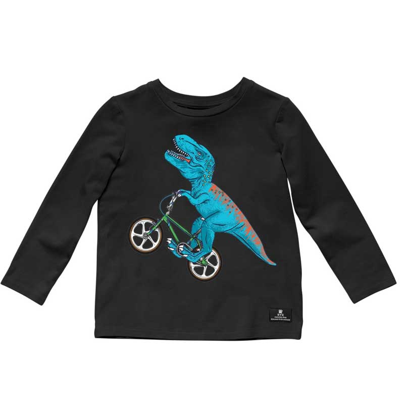 Rock Your Baby Dino Bike Baby L/S Tee