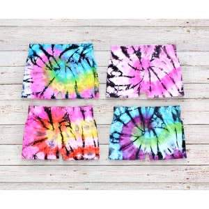 Malibu Sugar Little Girls Tie Dye Solid Shorts