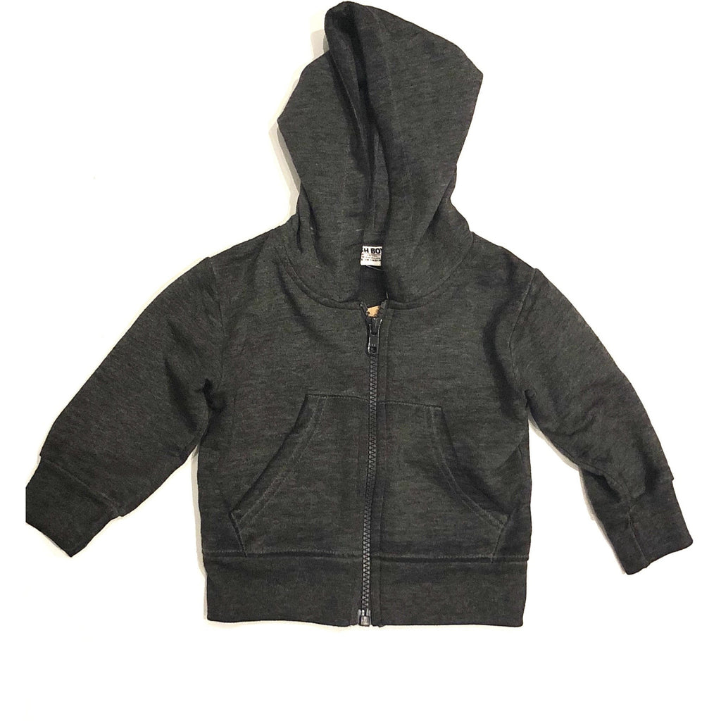 Mish boys faded wash zip up hoodie