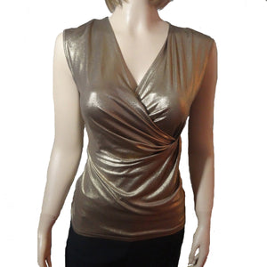 Chi-Wee's Treasure Calvin Klein Gold Top: Small