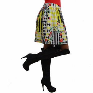 Chi-Wee's Treasure Love Culture Multi-Color Skirt: Size Large