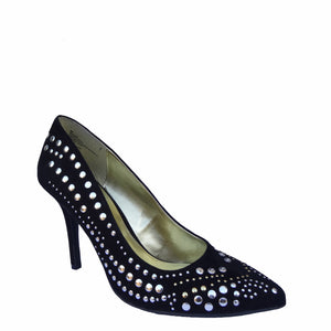 Chi-Wee's Treasure Cosmopolitan Silver and Gold Studded Pumps: Size 9