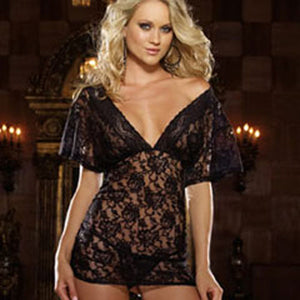 Dreamgirl Lace Night Gown and Thong