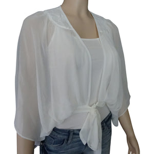 Off White Sheer Blouse