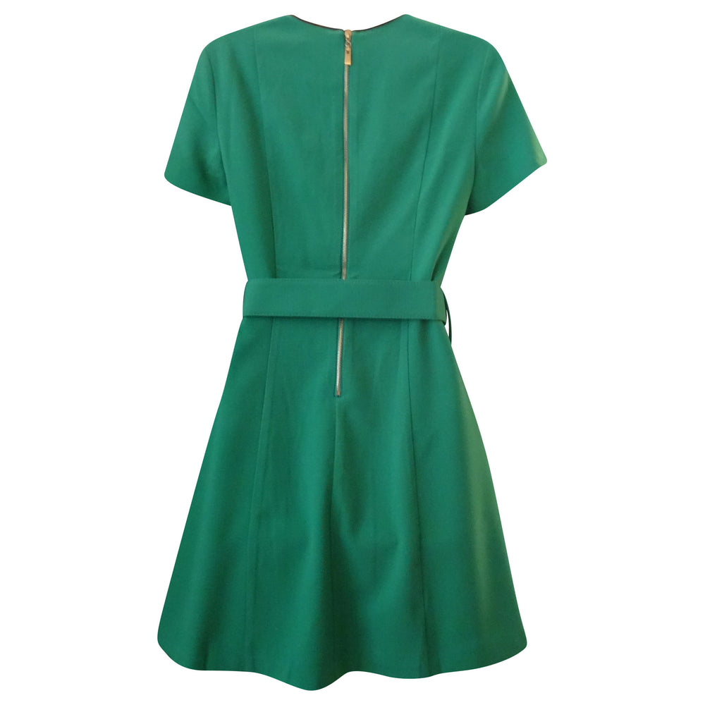Knee Length Dress with Belt