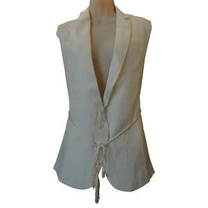 Vest with Rope Tie Belt