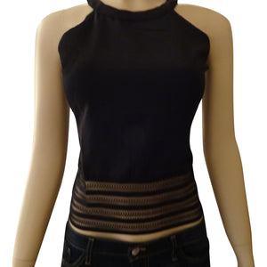 Sheer Waist Design Top