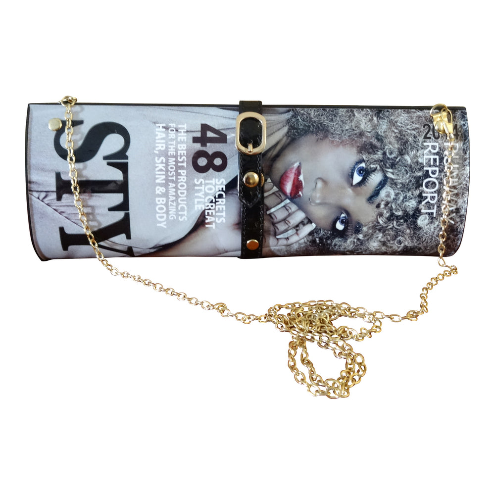 Collage Slender Clutch