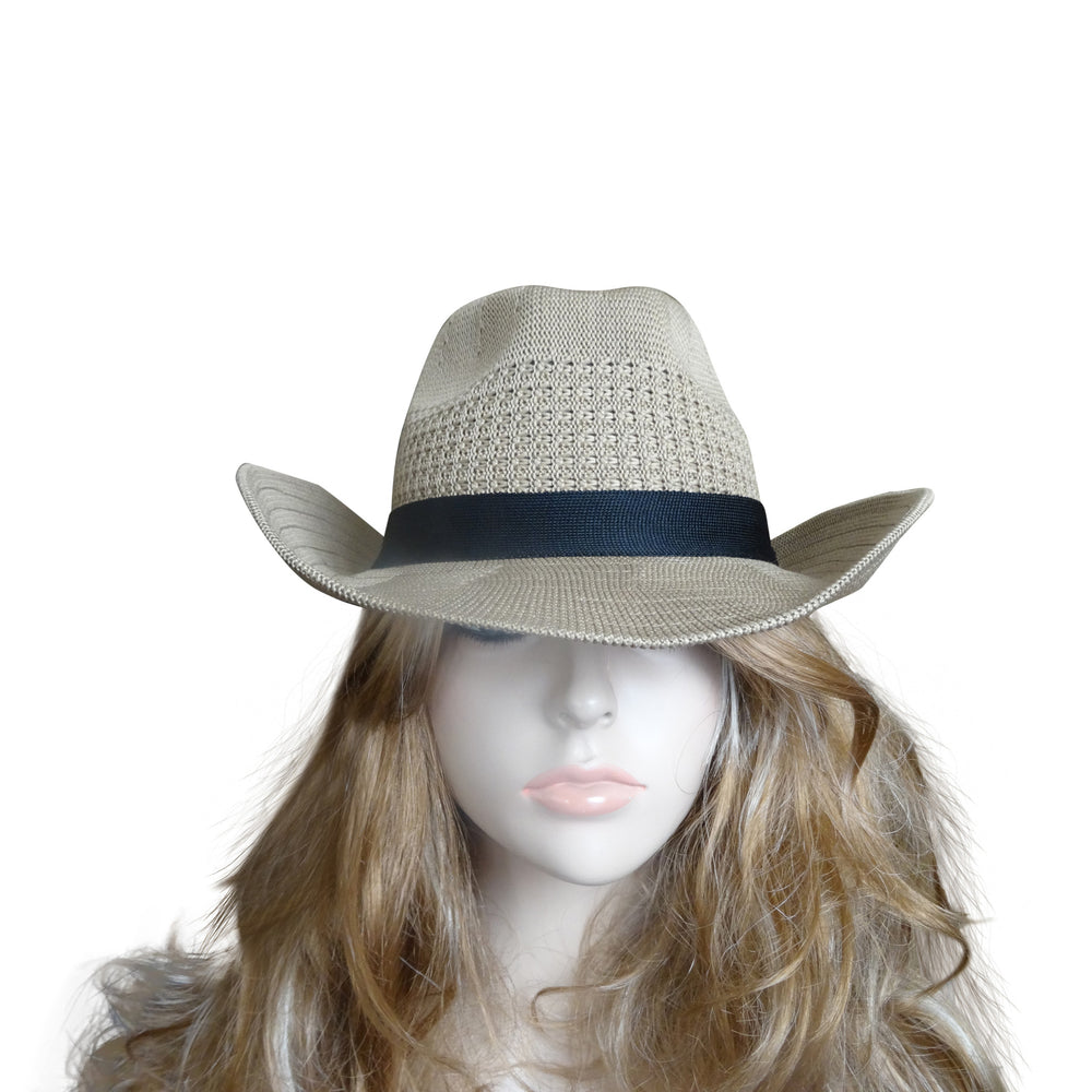 Dark Tan Hat with Black Band