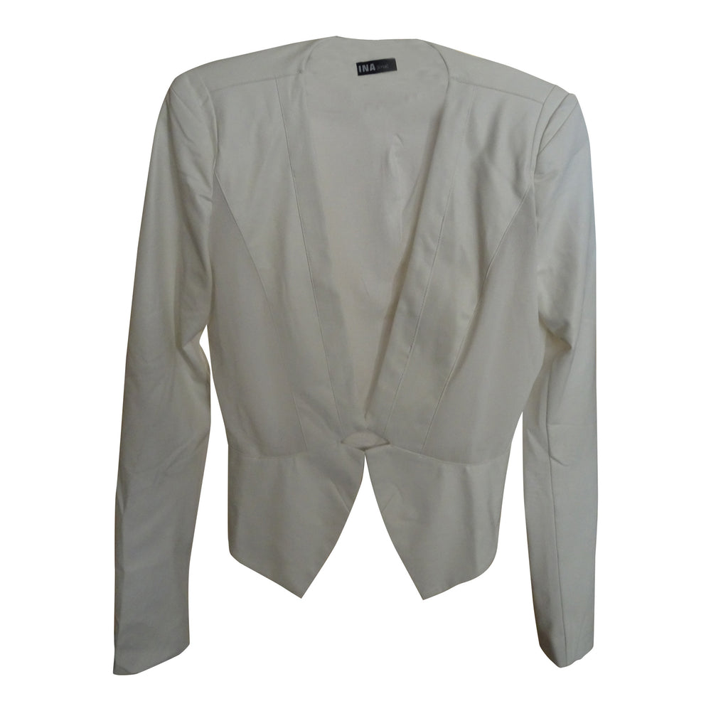 Ivory Faux Leather Jacket