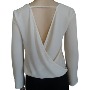 Tie Front Blouse with Drapped Back