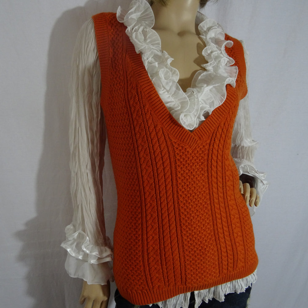 Chi-Wee's treasure Cashmere Blend Sweater Vest: Size Large