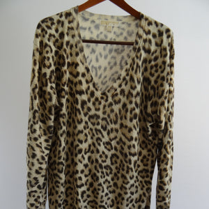 Chi-Wee's Treasure Michael Kors Lightweight Animal Print Sweater: Size X-Lrg