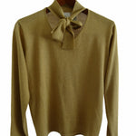 Chi-Wee's Treasure Villager Metallic Sweater: Size Medium
