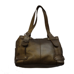 Bronze/Gold Leather Handbag