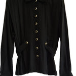 Chi-Wee's Treasure Button Down Blouse with Front & Back Pleats: Size Medium