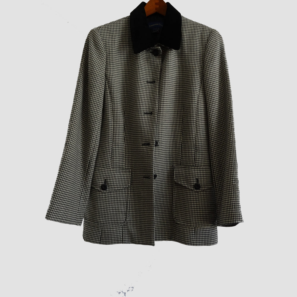 Charter Club Houndstooth Jacket: Size 6