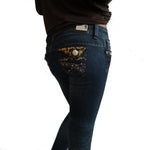 Jeans with Leopard Pocket Design