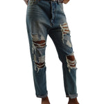 Signature8 Ripped 100% Cotton Jeans