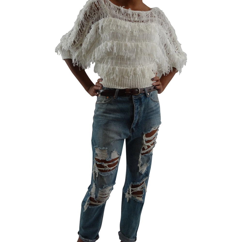 Light-Weight Fringe Sweater