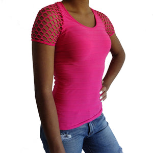 Net Sleeve Top