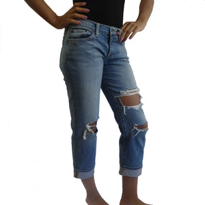 Chi-Wee's Treasure Lucky Brand Ripped Capri Jeans: Size 8/29