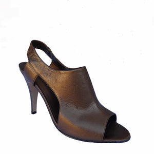 Chi-Wee's Nine West Bronze Leather Shoes: Size 7 1/2