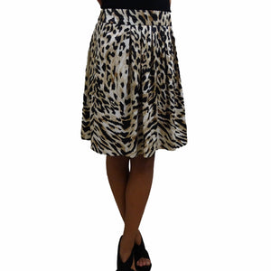 White House Black Market Print Skirt: