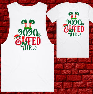 Mens T-shirt or Tank - Christmas - Elfed Up