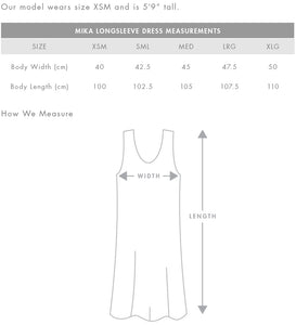 Design Your Own - AS Colour - WO'S MIKA ORGANIC L/S DRESS - 4033