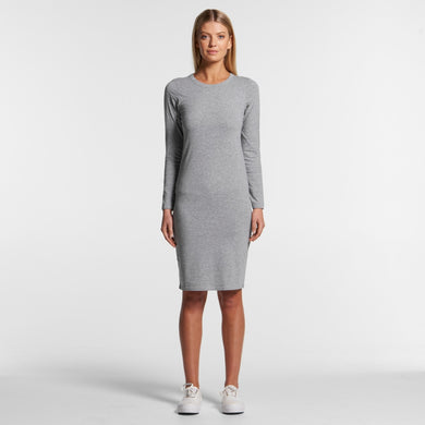 Design Your Own AS Colour - WO'S MIKA ORGANIC L/S DRESS - 4033