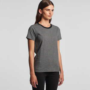 AS Colour - WOMEN'S LINE STRIPE TEE - 4041 T-Shirt Printing Australia