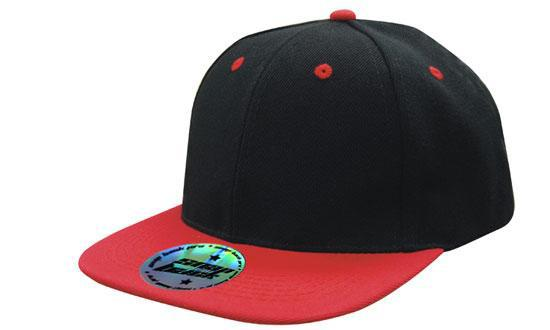 Newport Premium American Twill with Snap Back Cap Pro Styling – Black/Red - aussie-shirt-co