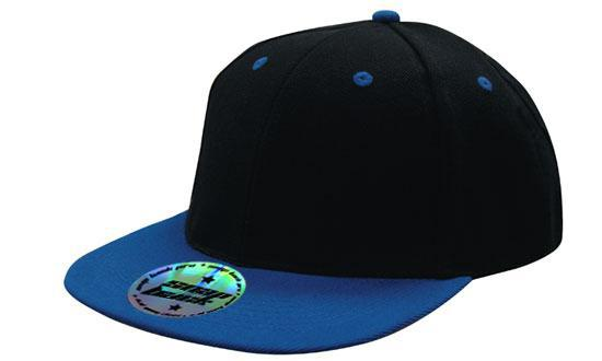 Newport Premium American Twill Cap with Snap Back Pro Styling – Black/Royal - aussie-shirt-co