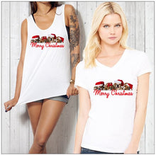 Load image into Gallery viewer, Christmas Shirts 4 Dogs with Christmas Hats - ASC T-Shirts - aussie-shirt-co