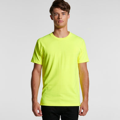 Design Your Own - AS Colour MENS BLOCK TEE T-Shirt (SAFETY COLOURS)