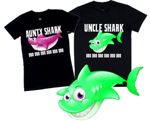 Shark Family T-Shirts - aussie-shirt-co
