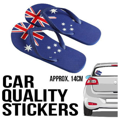 Aussie Thongs  - Sticker - Car or Wall Decal - ASC - aussie-shirt-co