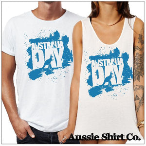 T-Shirt Tank or Cut Sleeve - Australia Day - Splash - ASC T-Shirts - aussie-shirt-co