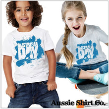 Load image into Gallery viewer, Kids T-Shirt or Cut Sleeve - AUSTRALIA DAY SPLASH - ASC Kids T-Shirts - aussie-shirt-co