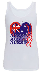 T-Shirt Tank or Cut Sleeve - Aussie Oi Oi Oi - ASC T-Shirt - aussie-shirt-co