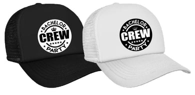 Bachelor Crew - Bucks Night - Cap Black or White ASC Bucks N Hens - aussie-shirt-co