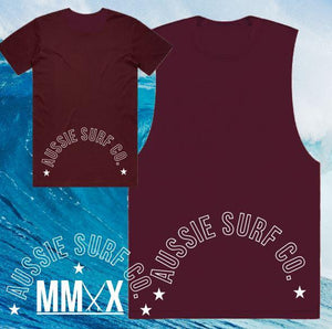 ASC MMXX Back Print Maroon Tee or Muscle