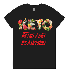 KETO Mens Womens AS Colour T-Shirt - Its Not A Diet Its a Lifestyle