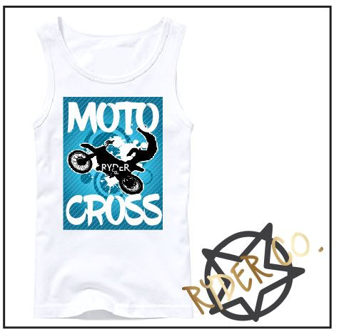 Tank - Blue Motocross - aussie-shirt-co